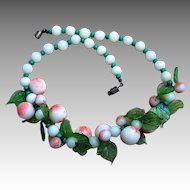 Murano Glass Vintage Fruit Necklace