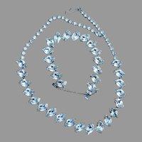 Vintage Elegant Rhinestone Necklace and Bracelet Set