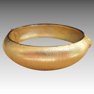 Hattie Carnegie Signed Vintage Gold Toned Bangle