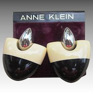 Anne Klein Vintage Couture Pierced Earrings