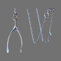 Danecraft Sterling Wishbone Necklace