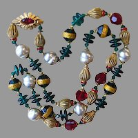Original By Robert Stunning Signed Vintage Necklace