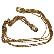 Lucian Piccard Signed Vintage Multi-Strand  Couture Runway Necklace