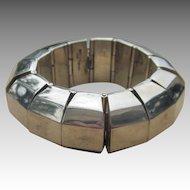 159 Grams Huge Modernist Vintage Taxco Mexican Sterling Bracelet