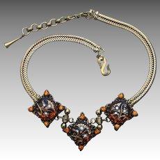 Victorian Revival Unique and Unusual Vintage Necklace