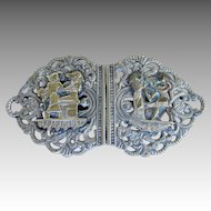 English Hallmarked Egyptian Ornate Antique Belt Buckle