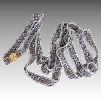 14k Gold and Art  Deco Extraordinary Flapper Sautoir Vintage Necklace