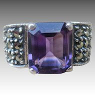 Judith Jack Sterling Silver and Marcasite Ring