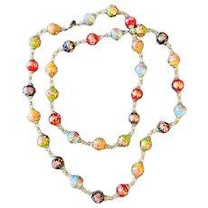 42 Inch Vintage Wedding Cake Bead Vintage Necklace