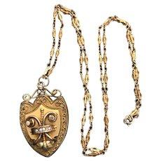 Victorian Antique Locket Pendant Necklace