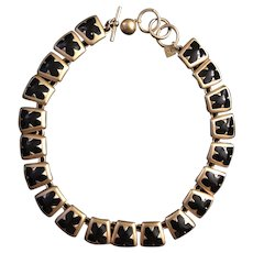 ANNE KLEIN- Vintage Runway Modernist Necklace
