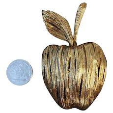 Bold Erwin Pearl Vintage Apple Brooch or Pendant