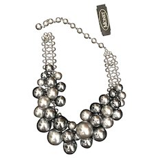 Monet Dramatic Runway Vintage Unworn Necklace
