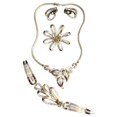 Amazing Trifari Early Rhinestone Parure Set