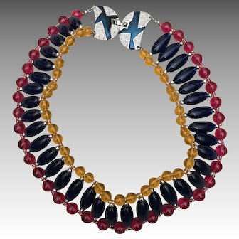 Monet Vintage Runway Bold Necklace