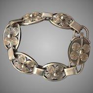 Mid-Century Outstanding Denmark Sterling Designer Bold  Bracelet