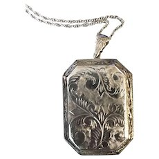 Extraordinary Sterling Silver Large Antique Locket