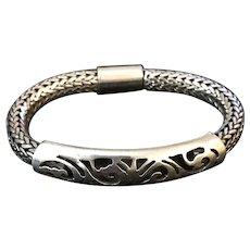 Fabulous Unisex Sterling Silver 77 gram Bracelet