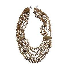 Amazing Runway Couture Designer Agate Bib Necklace