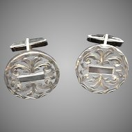 Rare Sterling Signed Mexican Vintage Cuff Links- Unique and Fabulous