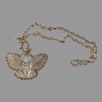 Kenneth Lane Huge Butterfly Vintage  Pendant on Accessocraft Chain