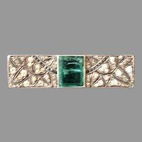 French Paste Art Deco Vintage Fabulous Pin