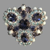 Christian Dior By Kramer Rare Vintage Signed Designer Elegant Brooch