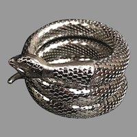 Iconic Vintage Whiting and  Davis Triple Coil Snake Bracelet