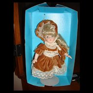 """MIB 8"""" Porcelain Ginny Doll by Vogue with Sleep Eyes"""