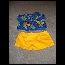 Teddy Ruxpin's Summertime Outfit