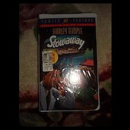 "NRFP Shirley Temple VHS Tape ""Stowaway"""