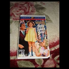 """NRFP Shirley Temple VHS Tape """"Baby Takes a Bow"""""""