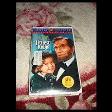 "NRFP Shirley Temple VHS Tape ""The Littlest Rebel"""