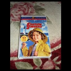 "NRFP Shirley Temple VHS Tape ""Captain January"""