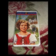 "MIP Shirley Temple VHS Tape ""Heidi"""