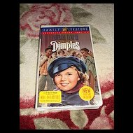 "NRFP Shirley Temple VHS Tape ""Dimples"""