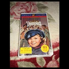 """NRFP Shirley Temple VHS Tape """"Dimples"""""""