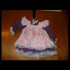 Beautiful Pink & Purple Doll Dress