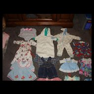 13 Mint Assortment of Doll Dresses Etc.