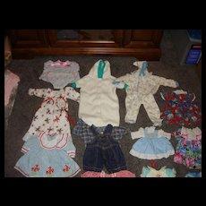 13 Mint Assortment of Doll Dresses Etc.