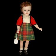 """Unmarked 18"""" Hard Plastic Doll"""