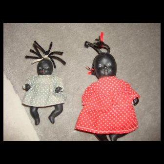Two Black Compo Dolls