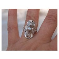 Art Deco Unusual Cut Out Work White Gold Diamond Ring