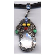 Amy Sandheim Arts & Crafts Rock Crystal Pendant