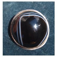 Large Banded Agate In Silver