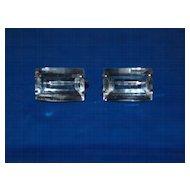 Japan Sterling Rock Crystal Earrings