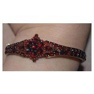 Elaborate Garnet Bangle Bracelet