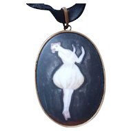 Belle Epoch Porcelain Handpainted Ballet Dancer Pendant