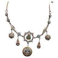 Victorian Italian Mosaic Bug Necklace