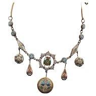 Victorian Italian Mosaic Bug Necklace